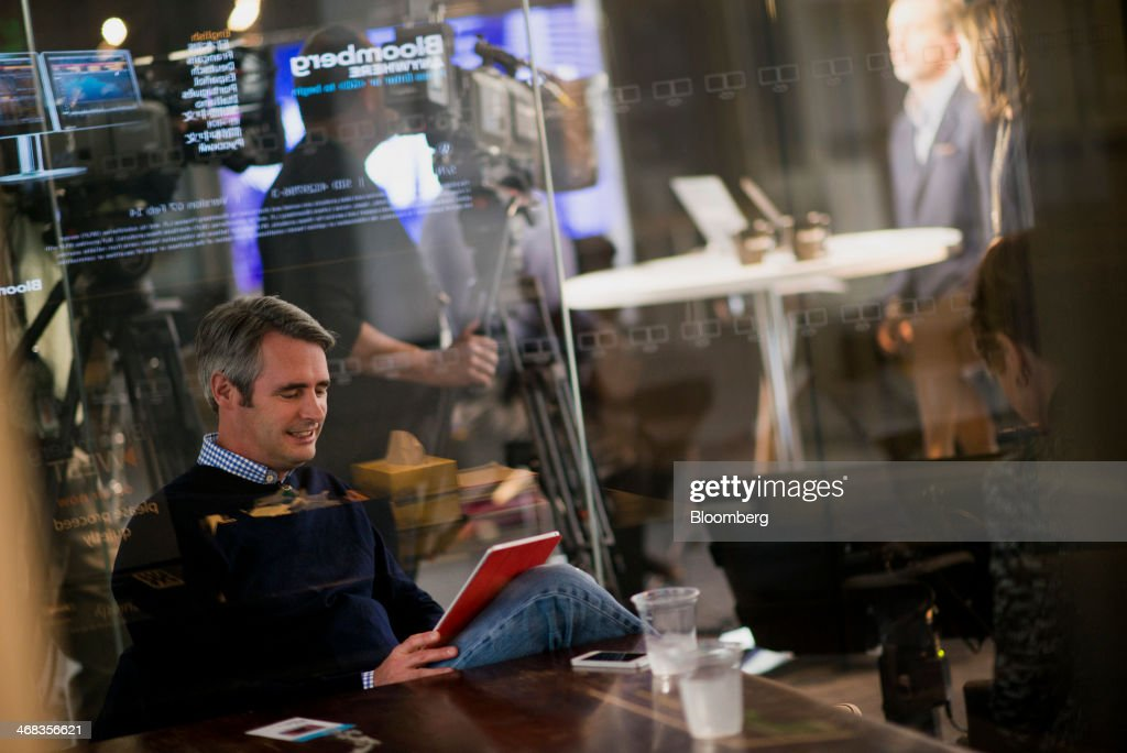 Michael 'Mike' McCue, co-founder and chief executive officer of Flipboard Inc., waits to participate in a Bloomberg West Television interview in San Francisco, California, U.S., on Thursday, Feb. 6, 2014. Flipboard Inc. offers software that collects the content of social media and other websites and presents it in magazine format for use on mobile devices. Photographer: David Paul Morris/Bloomberg via Getty Images