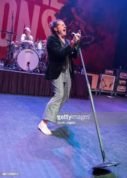 Michael Miley and Jay Buchanan of Rival Sons perform in support of the Teatro Fiasco Toure at The Fillmore Detroit on May 9 2017 in Detroit Michigan