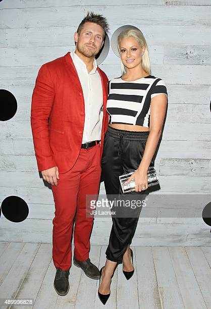Michael Mizanin and Maryse Ouellet attend the go90 Sneak Peek held at the Wallis Annenberg Center for the Performing Art on September 24 2015 in...