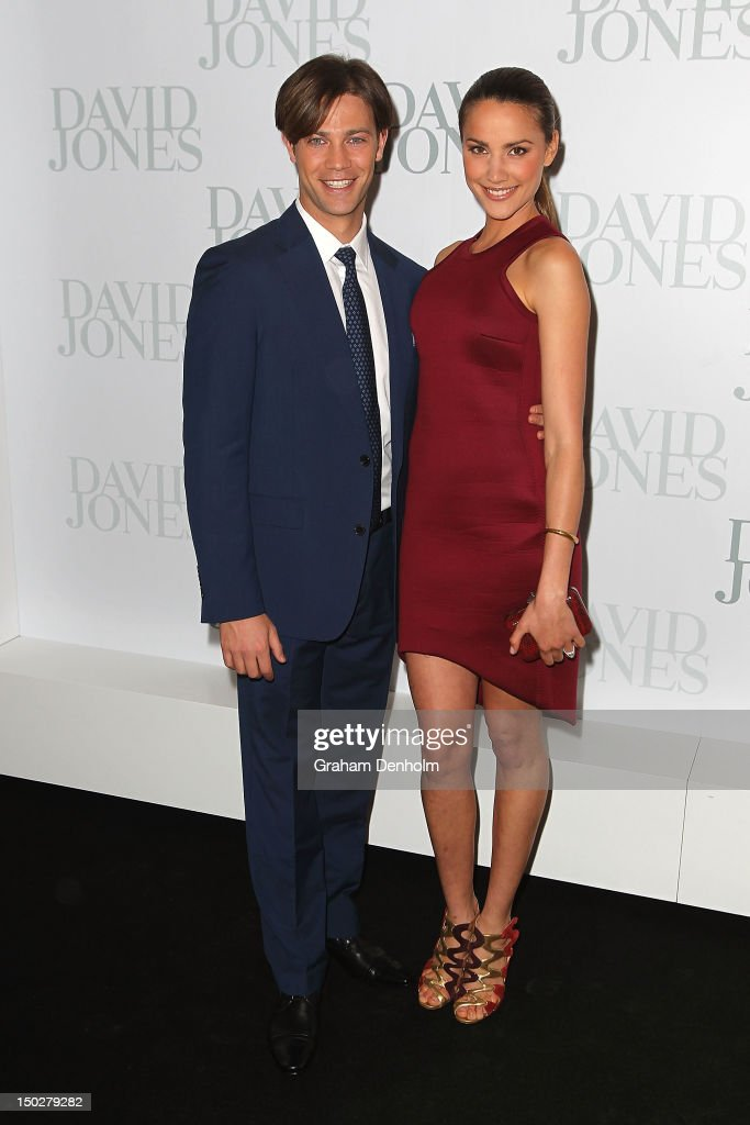 Michael Miziner (L) and Rachael Finch attend the David Jones S/S 2012/13 Season Launch at David Jones Castlereagh Street on August 14, 2012 in Sydney, Australia.