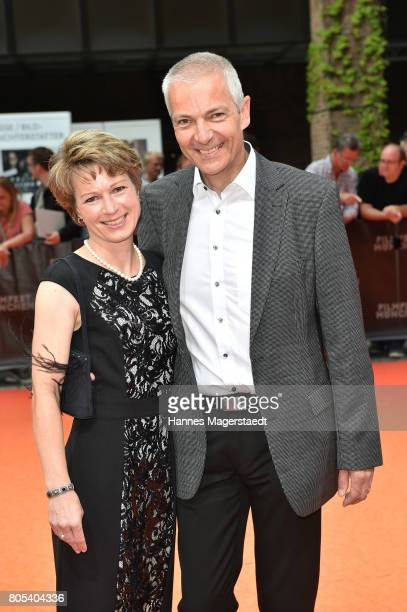 Michael Moeller and his wife Irmgard arrive at the premiere of 'Ihre Beste Stunde' as closing movie of Munich Film Festival 2017 at Gasteig on July 1...