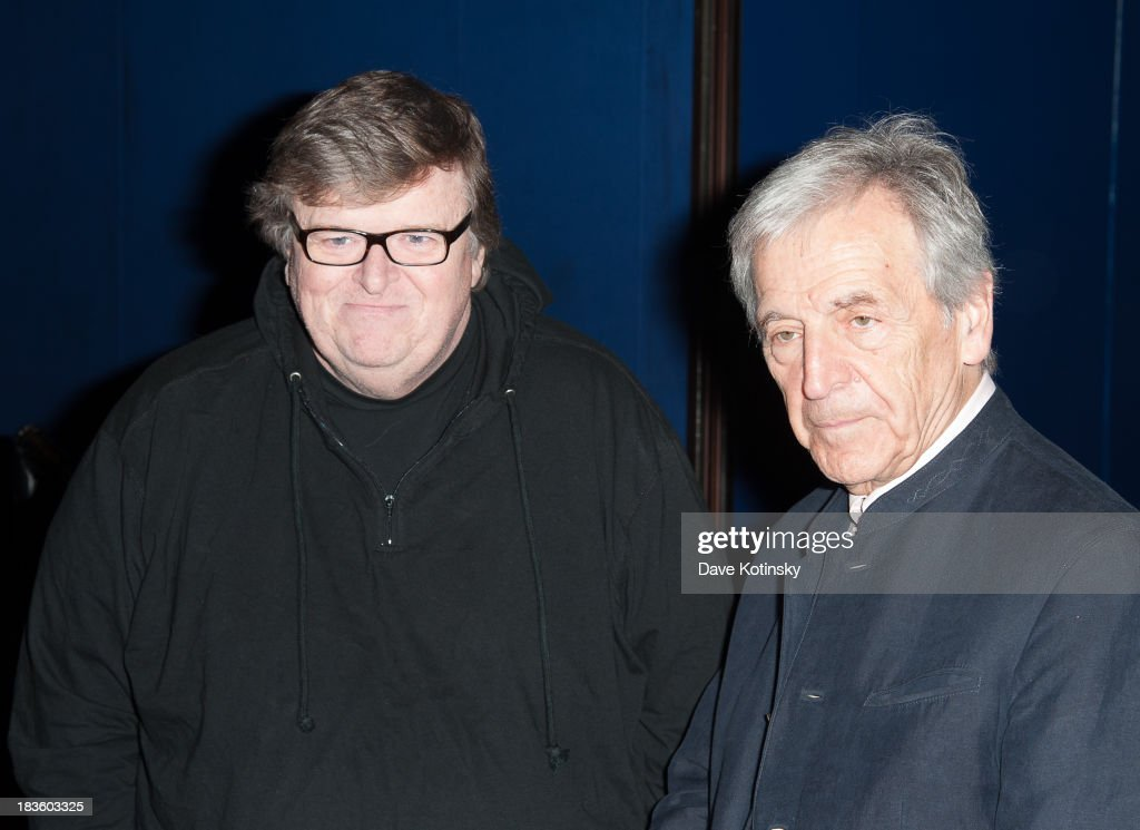 Michael Moore and <a gi-track='captionPersonalityLinkClicked' href=/galleries/search?phrase=Costa-Gavras&family=editorial&specificpeople=213531 ng-click='$event.stopPropagation()'>Costa-Gavras</a> attends 'Capital' New York Special Screening at FIAF on October 7, 2013 in New York City.
