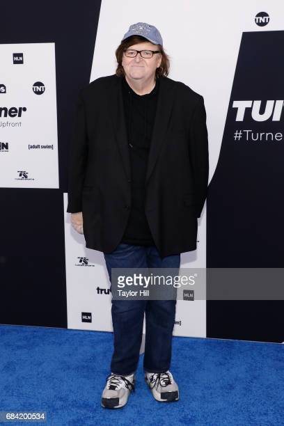 Michael Moore attends the 2017 Turner Upfront at Madison Square Garden on May 17 2017 in New York City