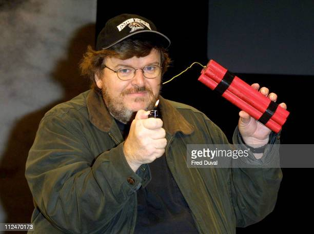 Michael Moore during Michael Moore Performing His Live Show At The Roundhouse at The Roundhouse in London Great Britain