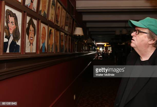 Michael Moore during the Michael Moore and Michael Mayer portrait unveilings as they join the Wall of Fame at Sardi's on September 21 2017 at Sardi's...
