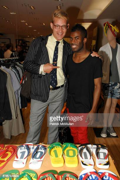 Michael Morand and Madison Moore attend HAVAIANAS GQ Magazine host the launch party for Havaianas Team Sandals at Barneys New York on June 10 2010 in...