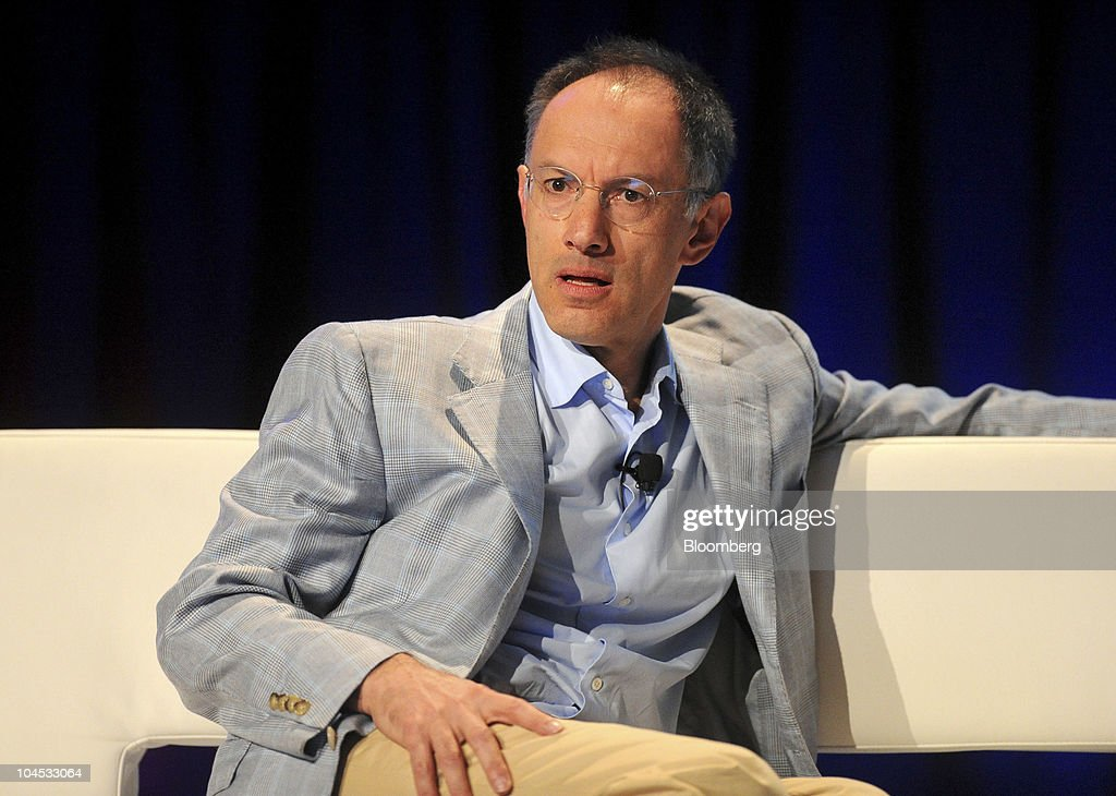 Michael Moritz, a partner with Sequoia Capital, listens during the TechCrunch Disrupt conference in San Francisco, California, U.S., on Tuesday, Sept. 28, 2010. The conference runs until Sept. 29. Photographer: Noah Berger/Bloomberg via Getty Images