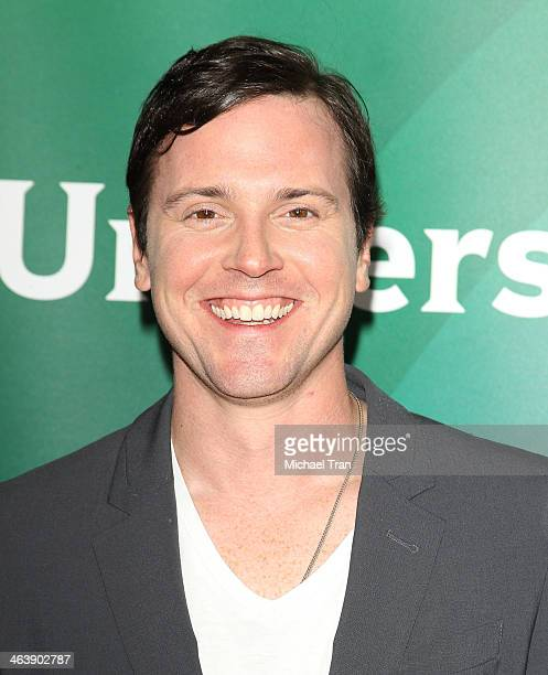 Michael Mosley arrives at the NBC/Universal 2014 TCA Winter press tour held at The Langham Huntington Hotel and Spa on January 19 2014 in Pasadena...