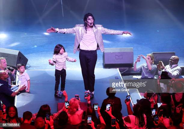 Michael Mourra and Navi perform during Lifetime's Michael Jackson Searching for Neverland Premiere Event at Avalon on May 23 2017 in Hollywood...