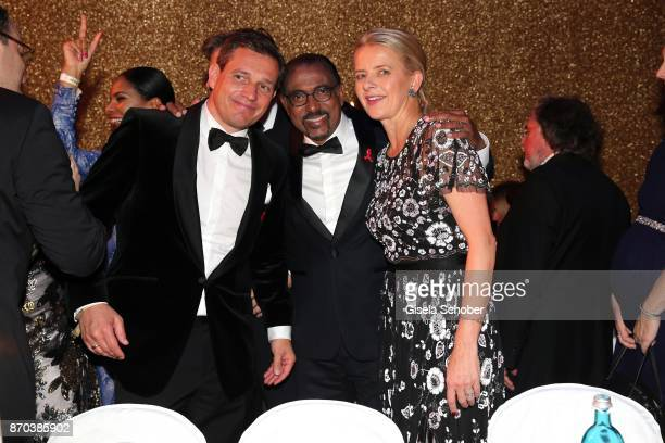 Michael Mronz Michel Sidibe Unaids Executive Director and IKH Princess Mabel von OranienNassau Mabel Wisse Smit widow of Prince Johan Friso von...