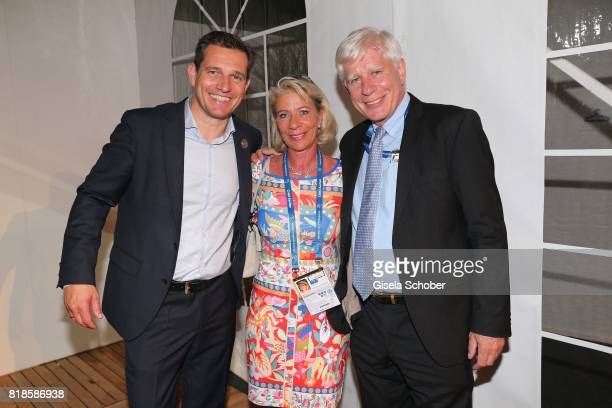 Michael Mronz Paul Schockemoehle and his wife Bettina Schockemoehle during the media night of the CHIO 2017 on July 18 2017 in Aachen Germany