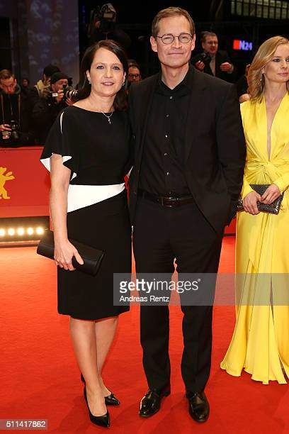 Michael Mueller mayor of Berlin and his wife Claudia attend the closing ceremony of the 66th Berlinale International Film Festival on February 20...