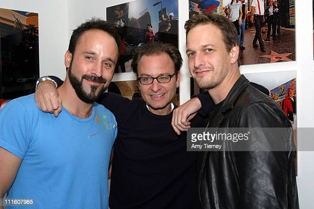 Michael Muller Fisher Stevens and Josh Charles during Michael Muller's Photographs Featured at Opening of LoFi Gallery at LoFi Gallery in Los Angeles...