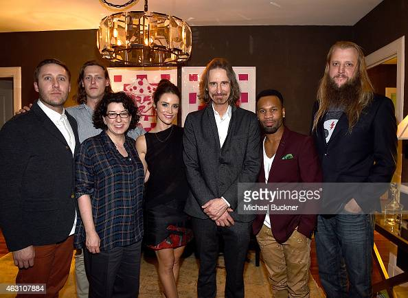 Michael Muller Rob Lowe writer Kate Powers actress Abigail Spencer creator Ray McKinnon actor Johnny Ray Gill and writer Scott Teems attend the...