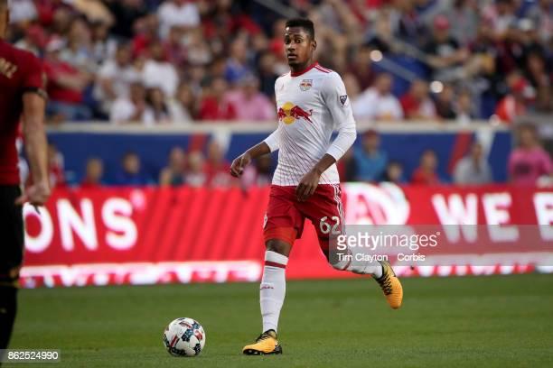 Michael Murillo of New York Red Bulls in action during the New York Red Bulls Vs Atlanta United FC MLS regular season match at Red Bull Arena...