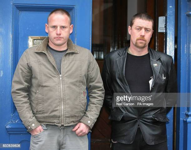 Michael Murphy and his brotherinlaw PJ Bennett arrive for the inquest into the death of his wife Eileen who died after she contracted MRSA after...