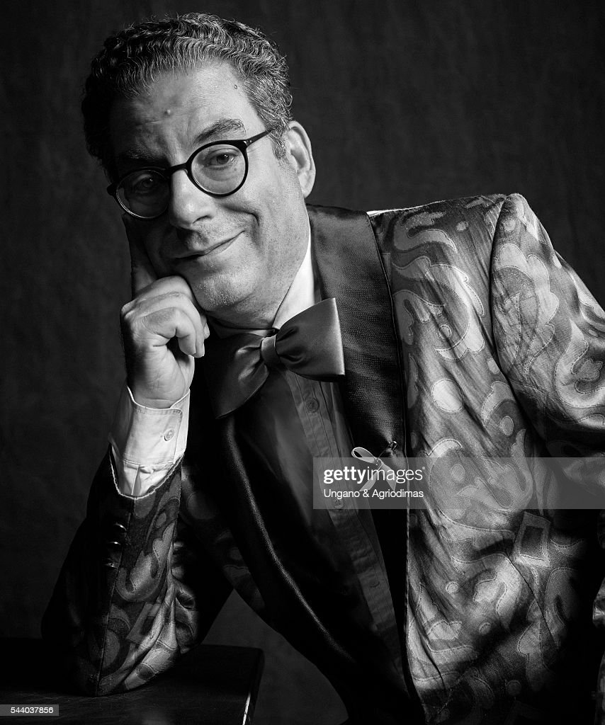 Michael Musto poses for a portrait at Logo's 'Trailblazer Honors' on June 23, 2016, in the Cathedral of St. John the Divine in New York City.