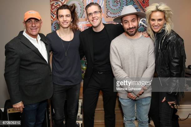 Michael Namer Ian Mellencamp John Platt Chris Liggio and ML Perlman attend ALFA APARTMENT SESSIONS At 199 Mott In NYC on April 20 2017 in New York...