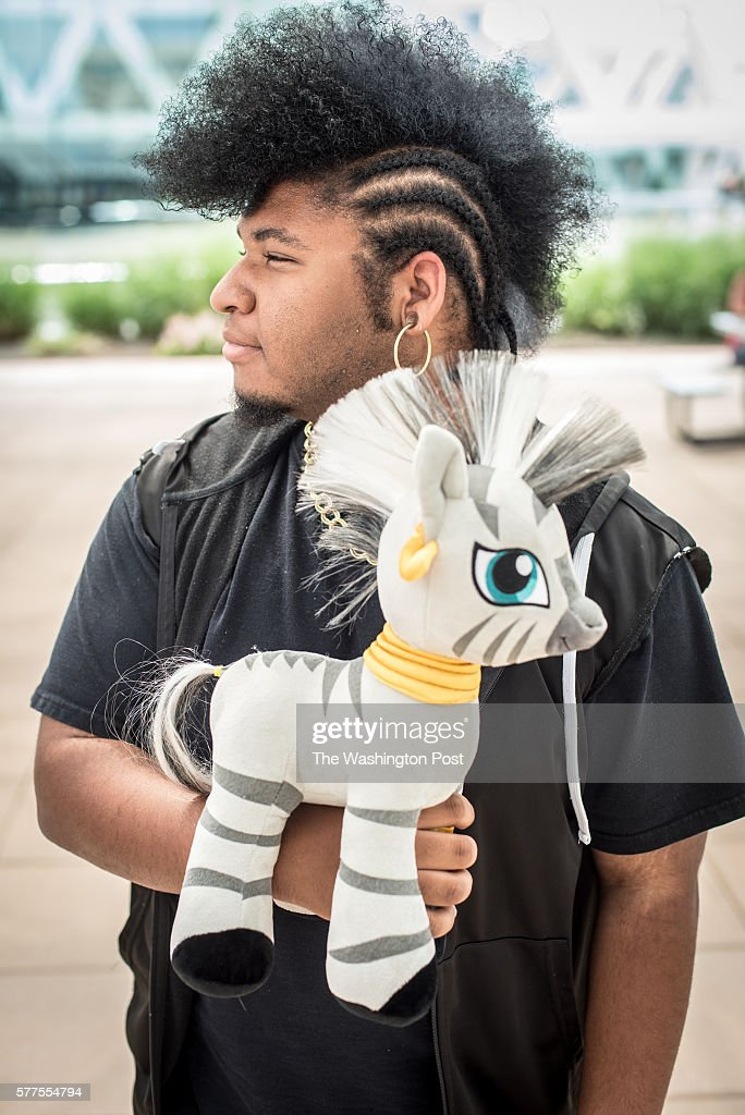 Michael Nance aka 'Zecora' of Newport News VA poses on the convention center patio BronyCon is the world's largest My Pretty Pony convention...