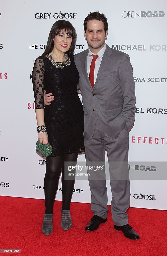 Michael Nathanson (R) and guest attend the Open Road With The Cinema Society And Michael Kors Host The Premiere Of 'Side Effects' at AMC Lincoln Square Theater on January 31, 2013 in New York City.