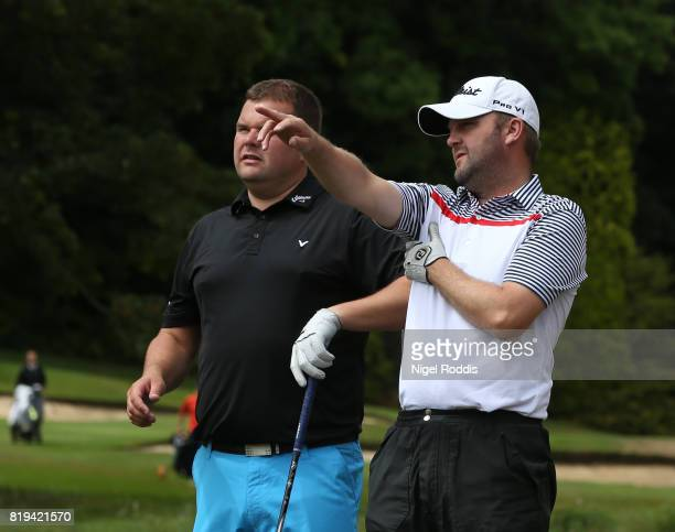 Michael Nesbit of Westerhope Golf Club and George Cowan of Westerhope Golf Club during the Golfbreakscom PGA Fourball Championship North Qualifier at...