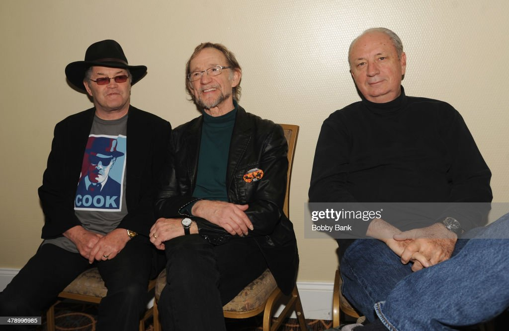 Michael Nesmith Peter Tork and Micky Dolenz of The Monkees attend the 2014 Monkee Official Convention at the Hilton Meadowlands Hotel on March 15...