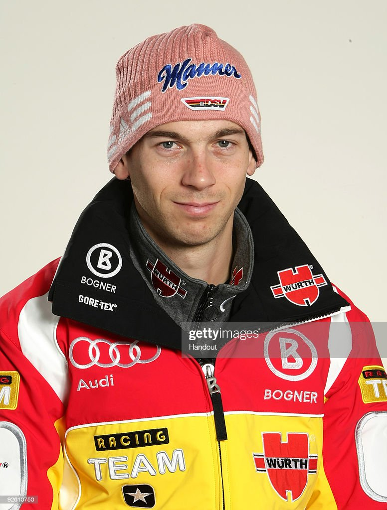 <a gi-track='captionPersonalityLinkClicked' href=/galleries/search?phrase=Michael+Neumayer&family=editorial&specificpeople=800790 ng-click='$event.stopPropagation()'>Michael Neumayer</a> poses during a photocall at the German athlete Winter kit preview at the adidas Brand Center on October 28, 2009 in Herzogenaurach, Germany.