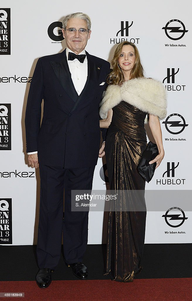 Michael Nouri and Kathleen Fischer attends the GQ Turkey Men of the Year award at Four Seasons Bosphorus Hotel on December 11, 2013 in Istanbul, Turkey.
