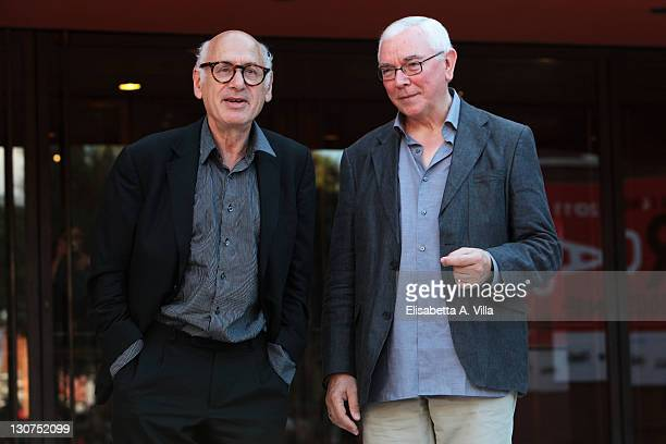 Michael Nyman and Terence Davies attend the 6th International Rome Film Festival at Auditorium Parco Della Musica on October 29 2011 in Rome Italy