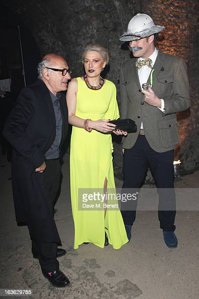 Michael Nyman Myriam Blundell and Guest attend Wanderlust Contemporary Art Society Annual Fundraising Gala sponsored by Boucheron at the Old Vic...