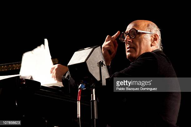 Michael Nyman performs in concert at Compac Theatre on January 3 2011 in Madrid Spain