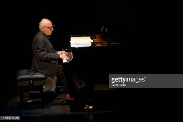 Michael Nyman performs on stage at Barts on March 13 2014 in Barcelona Spain