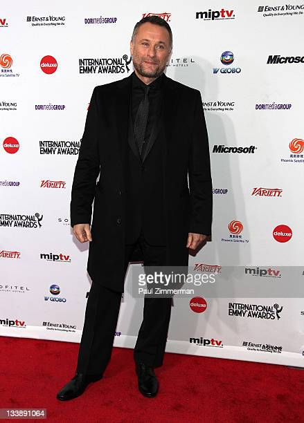 Michael Nyqvist attends the 39th International Emmy Awards at the Mercury Ballroom at the New York Hilton on November 21 2011 in New York City