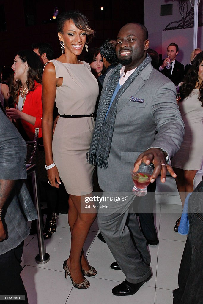 Michael Obeng and actress <a gi-track='captionPersonalityLinkClicked' href=/galleries/search?phrase=Judi+Shekoni&family=editorial&specificpeople=208917 ng-click='$event.stopPropagation()'>Judi Shekoni</a> at Los Angeles Confidential Celebrates 10th Anniversary Presented By Merrill Lynch Wealth Management at SupperClub Los Angeles on December 1, 2012 in Los Angeles, California.