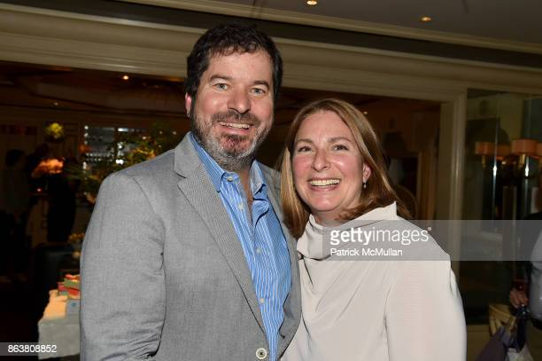 Michael O'Briant and Jill Barancik attend the launch of Second Bloom Cathy Graham's Art of the Table hosted by Joanna Coles and Clinton Smith at...