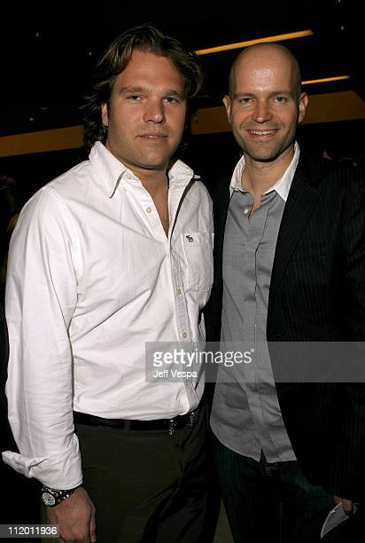 Michael Ohoven and Marc Forster during Men's Vogue Hosts a Private Screening of 'Helmut' by June with Brett Ratner at Neiman Marcus in Beverly Hills...