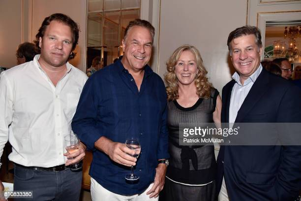 Michael Ohoven Jeff Green Anne Haubenstricker and Tom Haubenstricker attend Katrina and Don Peebles Host NY Mission Society Summer Cocktails at...