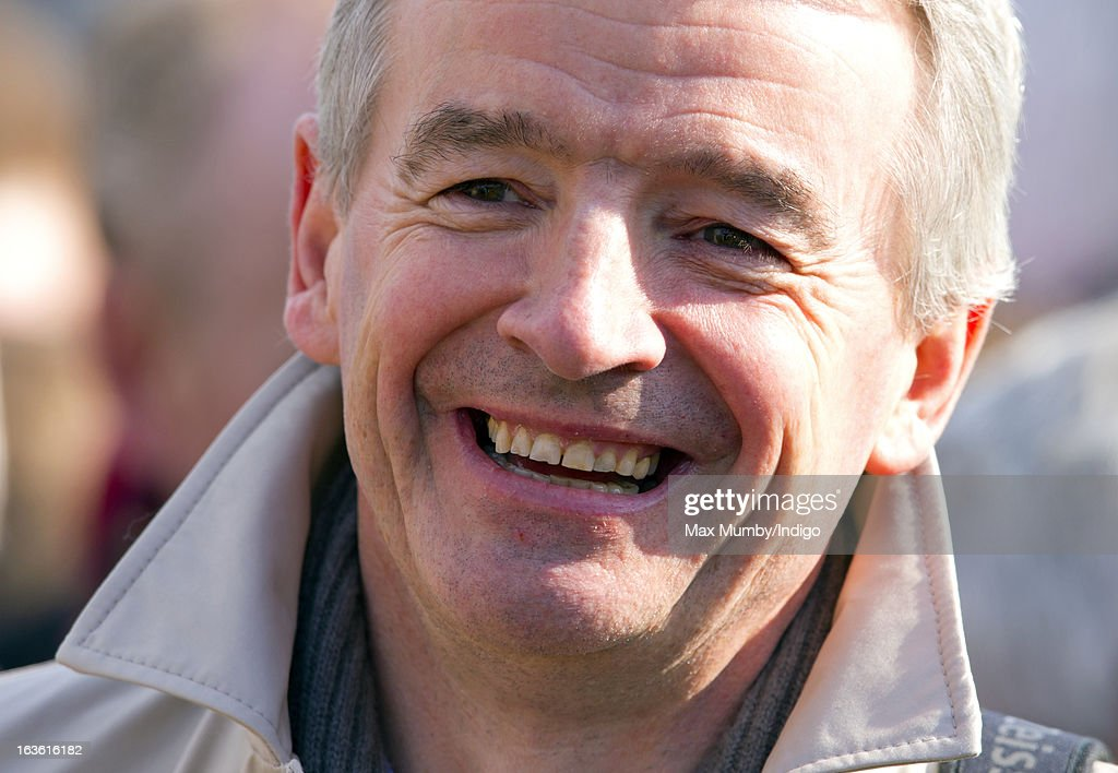 <a gi-track='captionPersonalityLinkClicked' href=/galleries/search?phrase=Michael+O%27Leary&family=editorial&specificpeople=5600252 ng-click='$event.stopPropagation()'>Michael O'Leary</a> attends Day 2 of The Cheltenham Festival at Cheltenham Racecourse on March 13, 2013 in London, England.