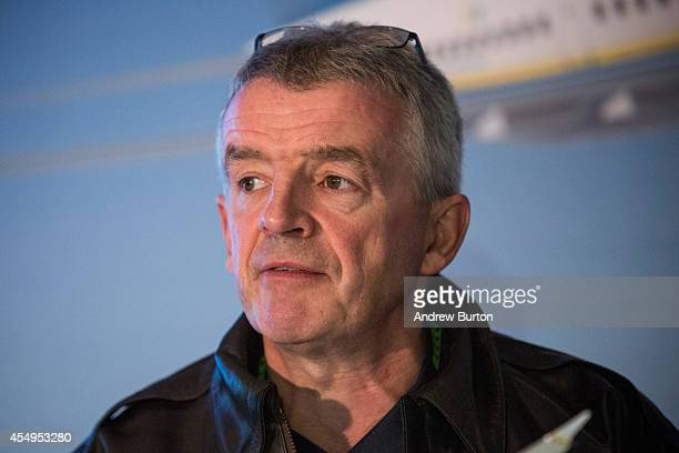 Michael O'Leary CEO of Ryanair holds a press conference with Boeing announcing the first sales of Boeing's new 737 Max 200 to RyanAir on September 8...