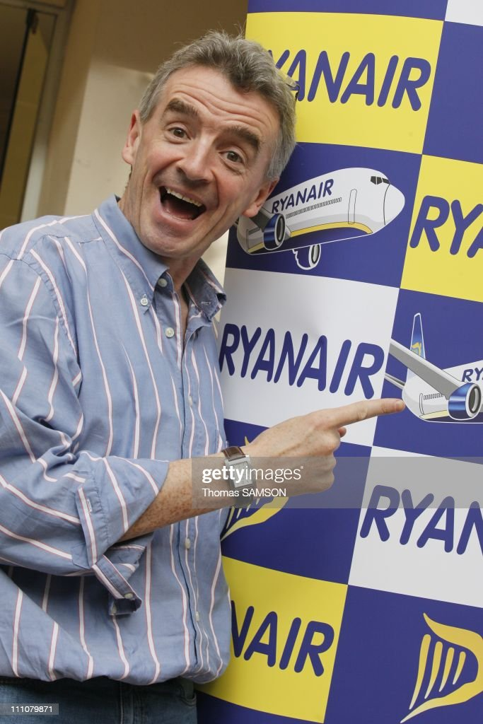 Michael O'Leary, CEO of Ryanair in Paris, France on March 30th, 2010