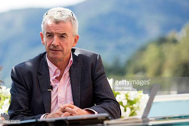 Michael O'Leary chief executive officer of Ryanair Holding Plc speaks to the media at the Ambrosetti Forum in Cernobbio Italy on Friday Sept 4 2015...