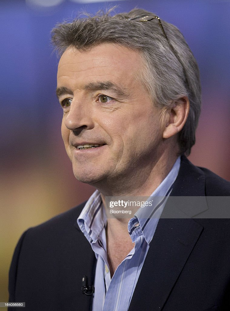 <a gi-track='captionPersonalityLinkClicked' href=/galleries/search?phrase=Michael+O%27Leary&family=editorial&specificpeople=5600252 ng-click='$event.stopPropagation()'>Michael O'Leary</a>, chief executive officer of Ryanair Holdings Plc, pauses during an interview in New York, U.S., on Tuesday, March 19, 2013. O'Leary discussed the low-cost carrier's agreement to buy 175 Boeing Co. 737 jets worth $15.6 billion at list price to add discount flights in markets vacated by full-service rivals. Photographer: Scott Eells/Bloomberg via Getty Images