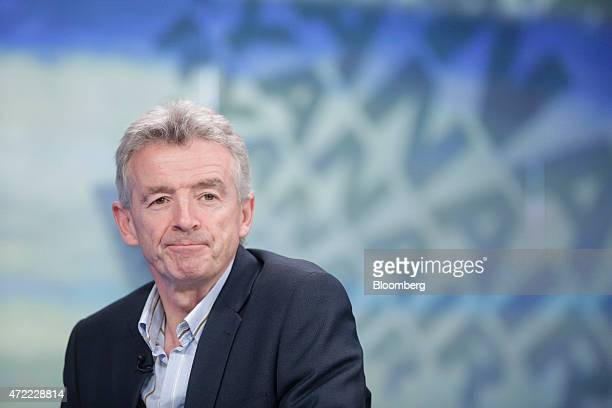 Michael O'Leary chief executive officer of Ryanair Holdings Plc pauses during a Bloomberg Television interview in London UK on Tuesday May 5 2015 The...