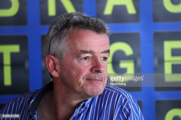 Michael O'Leary chief executive officer of Ryanair Holdings Plc pauses during a news conference at Tegel airport in Berlin Germany on Thursday Sept...
