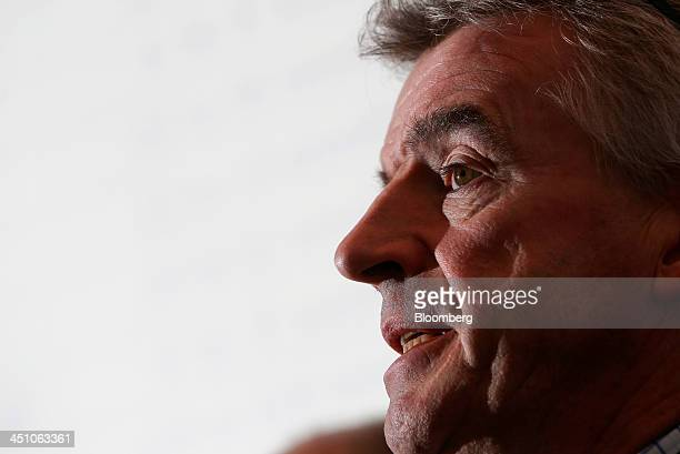 Michael O'Leary chief executive officer of Ryanair Holdings Plc speaks during a news conference in London UK on Thursday Nov 21 2013 The Irish...
