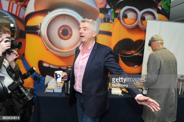 Michael O'Leary chief executive officer of Ryanair Holdings Plc attends the company's annual general meeting in Dublin Ireland on Thursday Sept 21...