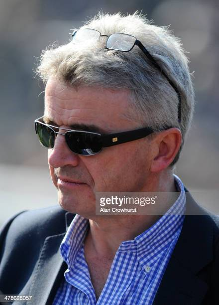 Michael O'Leary poses during Cheltenham Gold Cup day at the Cheltenham Festival at Cheltenham racecourse on March 14 2014 in Cheltenham England