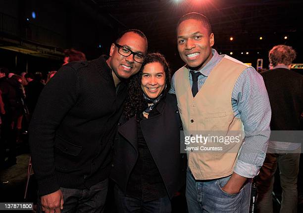 Michael Olmos and Sheldon Candis attend the Awards Night Ceremony Reception during the 2012 Sundance Film Festival at the Basin Recreation Field...