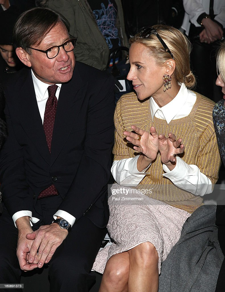 Michael Ovitz (L) and Tory Burch attend Kimberly Ovitz during Fall 2013 Mercedes-Benz Fashion Week at Cafe Rouge on February 7, 2013 in New York City.