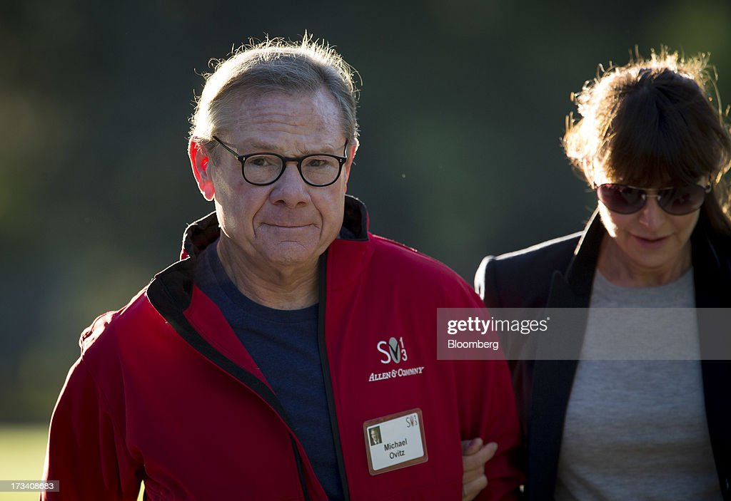 Michael Ovitz, former president of Walt Disney Co., walks to a morning session at the Allen & Co. Media and Technology Conference in Sun Valley, Idaho, U.S., on Saturday, July 13, 2013. Executives from media, finance and politics mingle at the mountain resort between presentations on business trends and social issues, brought together by New York investment banker Herb Allen. Photographer: Scott Eells/Bloomberg via Getty Images
